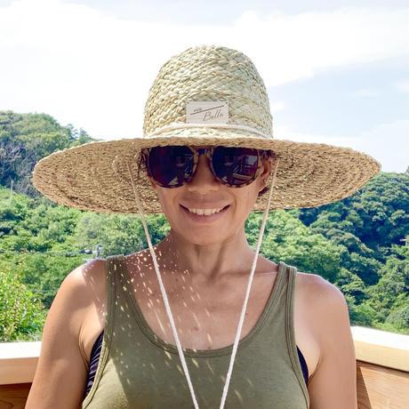 Bali島手編み天然草ハット