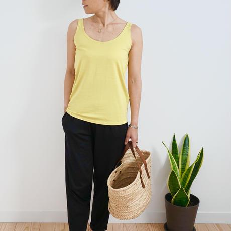 Bamboo Cotton Standard  Tank Mustard Yellow