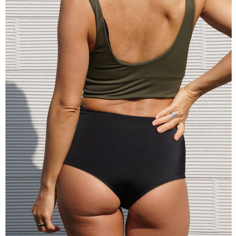 Brave Green High Waist Bottoms