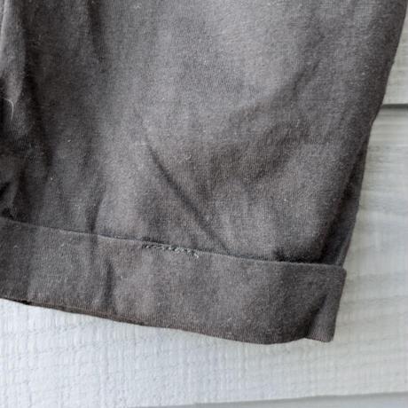 Bamboo Cottonリラックスハイウェストパンツ 黒