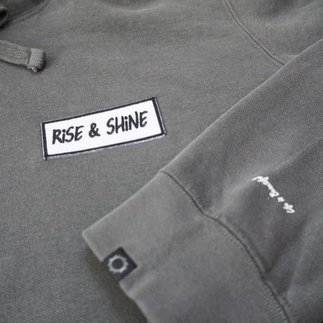 Rise &Shine Washed Hoodie Ash Black
