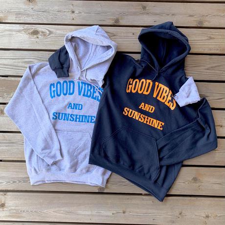 Good Vibes and Sunshine Hoodie Gray