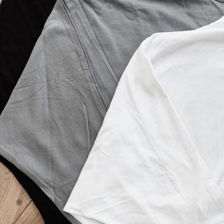 Bamboo Cotton ドルマンロングT ホワイト