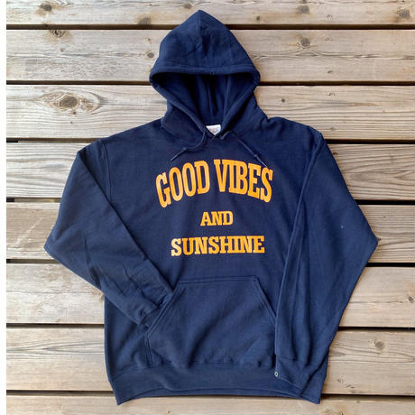 Good Vibes and Sunshine Hoodie Navy