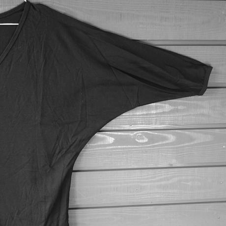Bamboo CottonドルマンロンT ブラック