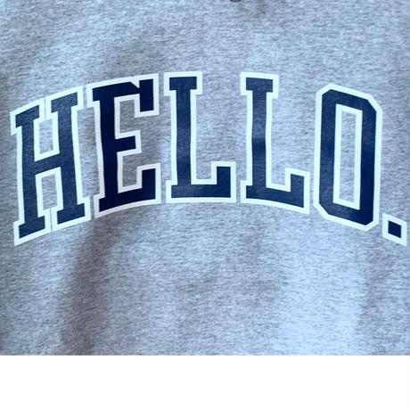 Hello College Hoodie  Gray