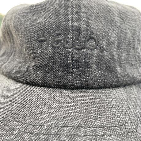 Hello Vintage Wash Denim Cap