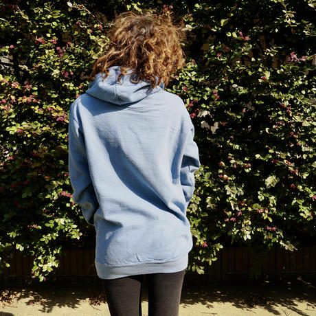 Rise&Shine Washed Hoodie Blue Jean