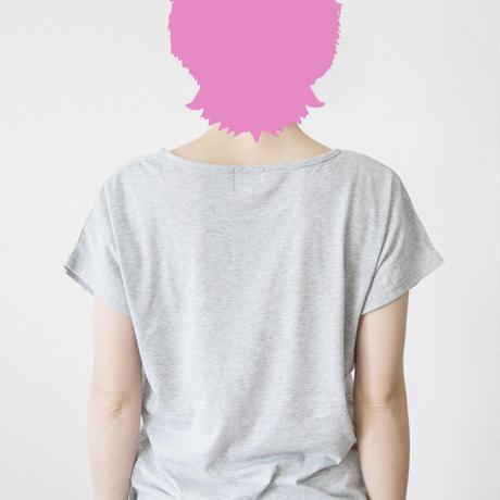 Ladies T logo grey
