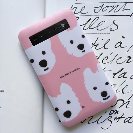 インジケーター付き/モバイルバッテリー・ベーシック  Pink&PepperMint&LightGray&Lavender
