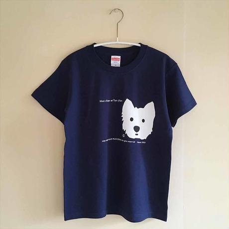 インディゴ/シルクスクリーンprint-Tシャツ・限定数