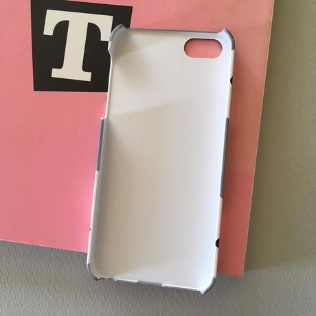 スマホケース 白ワンコDeepGray-  for iPhone 側面印刷