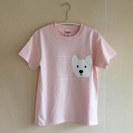 ベビーピンク/シルクスクリーン-Tシャツ・限定数