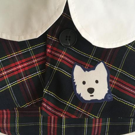 モンシアン セレクト/ミニマント&帽子 白ワンコワッペン付き