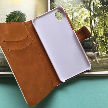 モンシアン・手帳型 /ヌメ革風・アンドロイドも対応