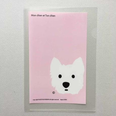 A5 クリアファイル うちの子-Pink
