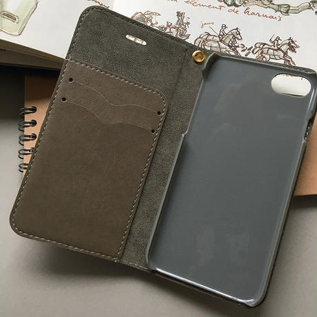 ベルト無し フレンズ組み合わせ自由 手帳型 iPhone -3色