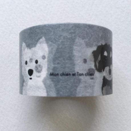 白ワンコ&フレンズ マスキングテープ25mm巾