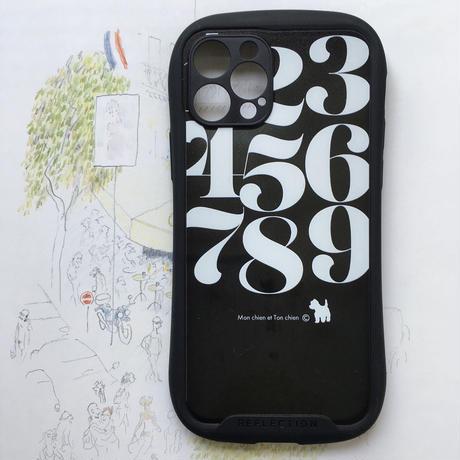 タイポグラフィ グリップケース-カメラレンズカバー付き/  iPhone用