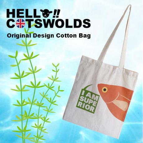 Hello!! Cotswolds オリジナル 熱帯魚コットンバッグ