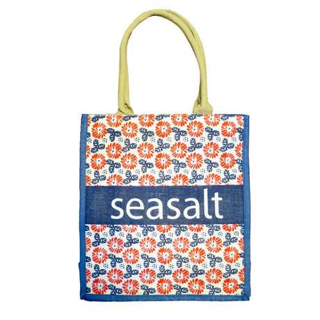 【再入荷】SEASALT ジュートショッパーバッグ Pretty Flower