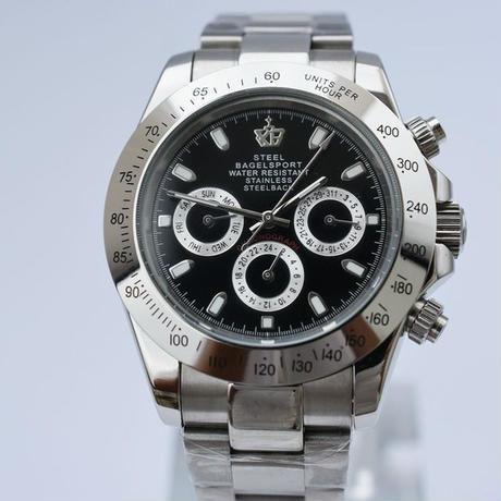 Steelbagelsport 機械式腕時計 クラシック 自動巻/シルバー