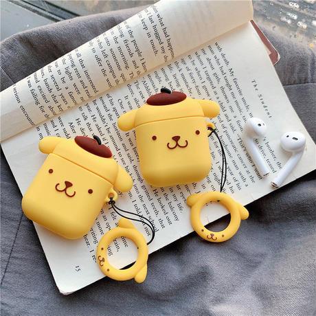 黄色い漫画犬 エアーポッズケース AirPods case ケース カバー アップル イヤホンケース AirPods アクセサリー