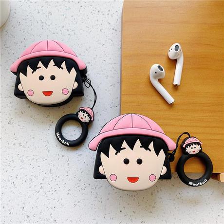 まる子 エアーポッズケース AirPods case ケース カバー アップル イヤホンケース AirPods アクセサリー