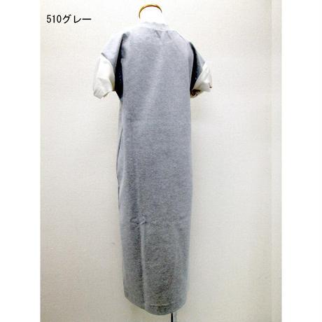 結び袖ロングストレートワンピース(グレー)OPC-9617 C/#510
