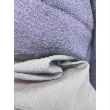 TSC-2635 異素材袖のタックプルオーバー ダークネイビー(210)