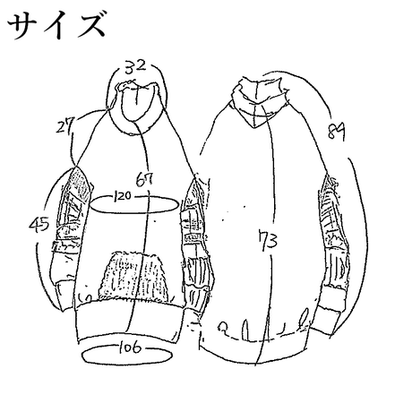 PKC-3627 モジャポッケはぎ袖パーカー ブラック(910)