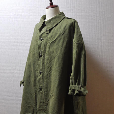 40's French Army Motor Cycle Coat(フランス軍 モーターサイクルコート)