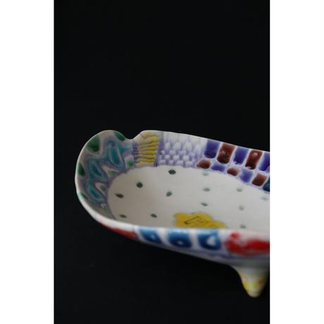 武田朋己 九谷焼 歩けサンドイッチ皿? Hi