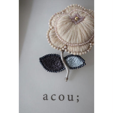 acou; フランスオートクチュール刺繍  peony PK