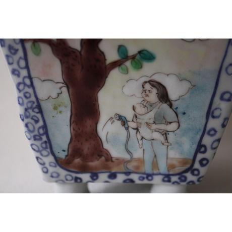 九谷焼 北井真衣 植木鉢 樹々の育て方