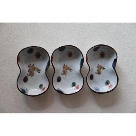 稲葉カヨ ひょうたん型小皿 うさぎ