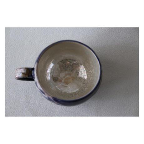 稲積佳谷 九谷焼 夢窓華 藍 マグカップ