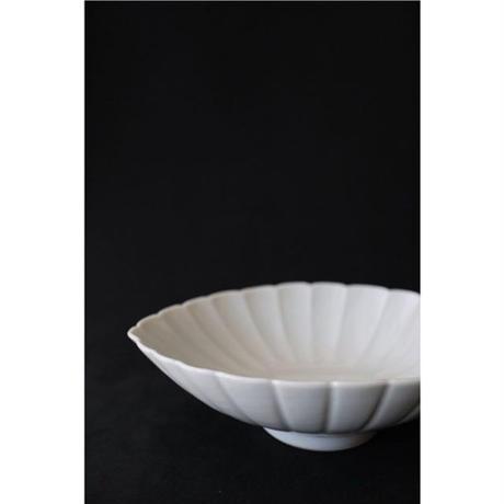 宮腰徳二 九谷焼 葉型中鉢(向付)