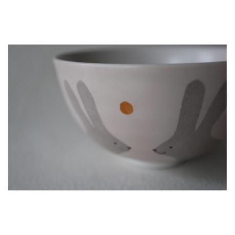 香田昌恵 九谷焼   うさぎ 茶碗