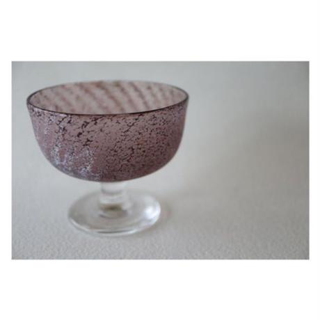 橋村野美知 ガラス 足つきカップ