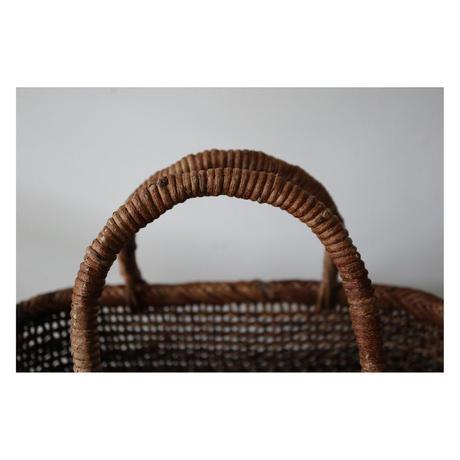 和島常男 あけびの蔓 カゴ こだし編み