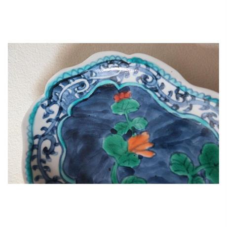 永井麻美子 九谷焼 ブルーガーデン 楕円皿