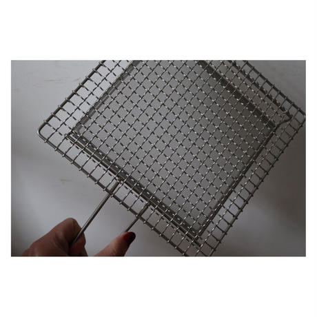 辻和金網 手付焼き網 大 正方形