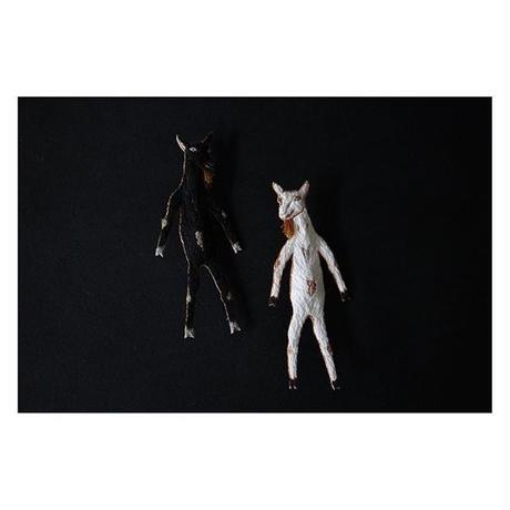 アトリエグラスホッパー 刺繍 立ちヤギ