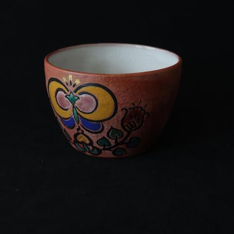 稲積佳谷 色絵フリーカップ 花