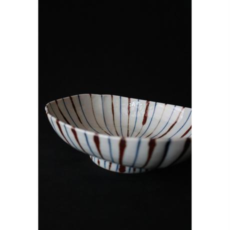 海野裕 九谷焼 むぎ もっこ鉢