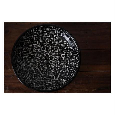 リトアニアからの大皿 黒
