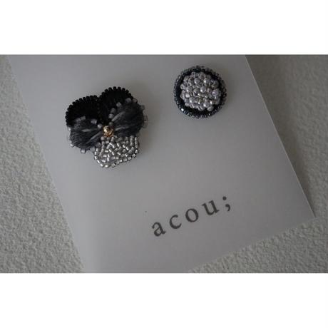 acou; フランスオートクチュール刺繍  vlola bk  ピアス