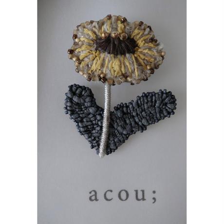 acou; フランスオートクチュール刺繍 dandelion