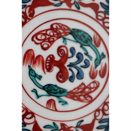 伊藤由紀子 九谷焼 切支丹九谷絵皿板  小 2枚組